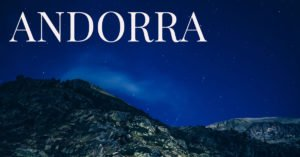 Andorra mountains at night